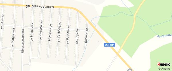 Дальняя улица на карте Верхнего Уфалея с номерами домов