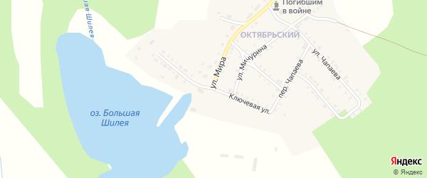 Ключевая улица на карте Октябрьского поселка с номерами домов