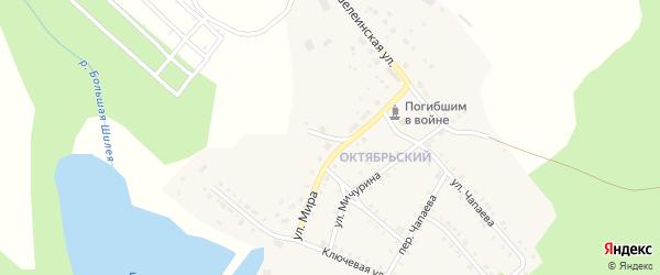 Переулок Мира на карте Октябрьского поселка с номерами домов