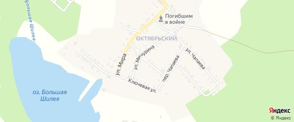 Нагорный переулок на карте Октябрьского поселка с номерами домов