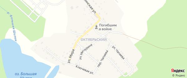 Переулок Чапаева на карте Октябрьского поселка с номерами домов