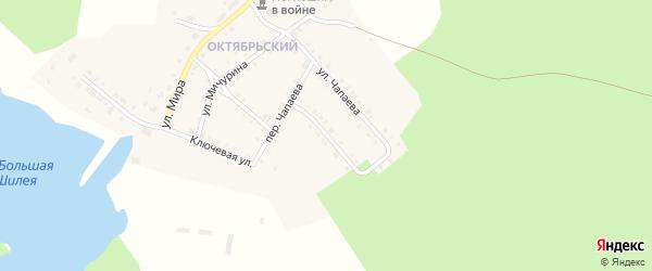 Улица Сергея Лазо на карте Октябрьского поселка с номерами домов
