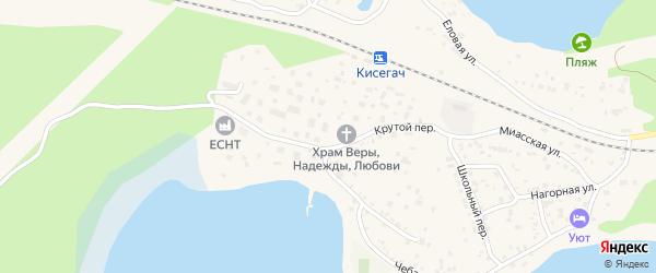 Крутой переулок на карте Чебаркуля с номерами домов