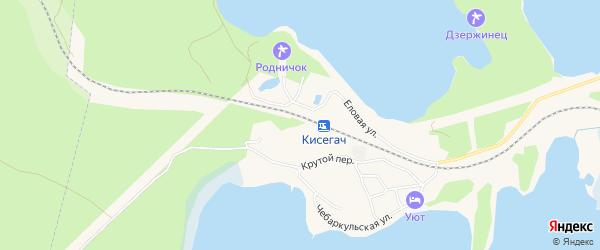 Территория Санаторий Каменный цветок на карте разъезда Кисегача с номерами домов