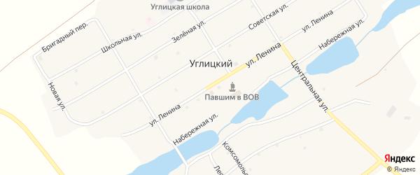 Центральная улица на карте Углицкого поселка с номерами домов