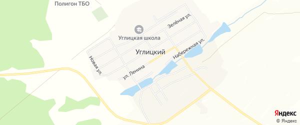 Карта Углицкого поселка в Челябинской области с улицами и номерами домов