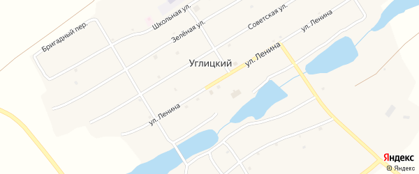 Лесная улица на карте Углицкого поселка с номерами домов