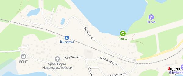 Еловая улица на карте Чебаркуля с номерами домов