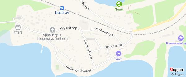 Каменный переулок на карте Чебаркуля с номерами домов