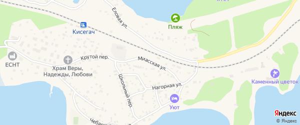 Миасская улица на карте Чебаркуля с номерами домов