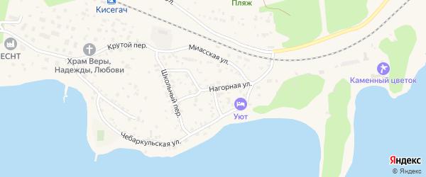 Нагорная улица на карте Чебаркуля с номерами домов