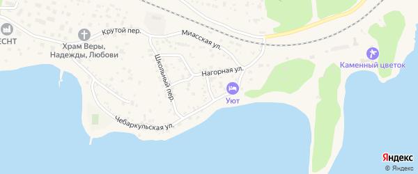 Дачный переулок на карте Чебаркуля с номерами домов