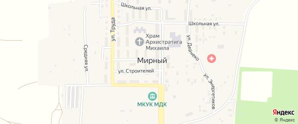Улица Энергетиков на карте Мирного поселка с номерами домов