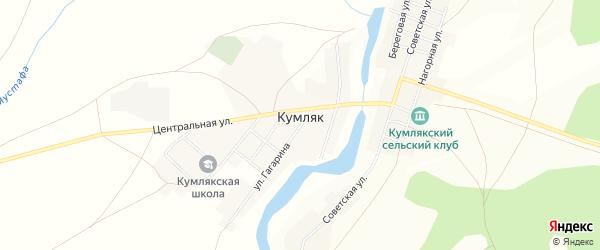 Карта села Кумляка в Челябинской области с улицами и номерами домов