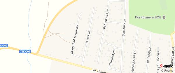 Новая улица на карте поселка Бредов с номерами домов