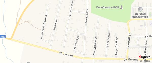 Гранитная улица на карте поселка Бредов с номерами домов