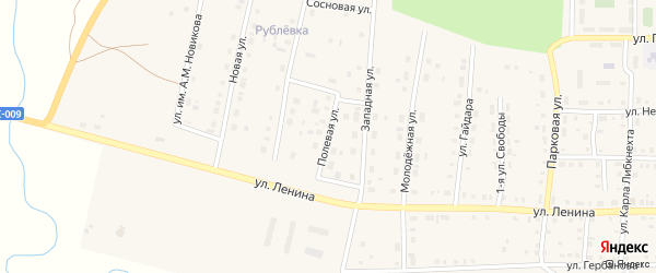 Полевая улица на карте поселка Бредов с номерами домов