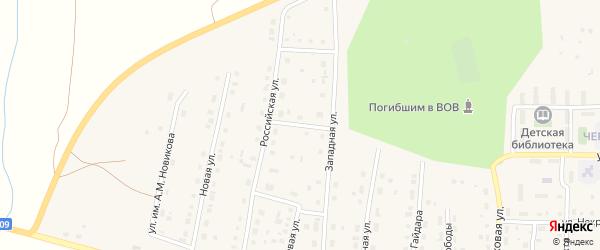 Сосновая улица на карте поселка Бредов с номерами домов