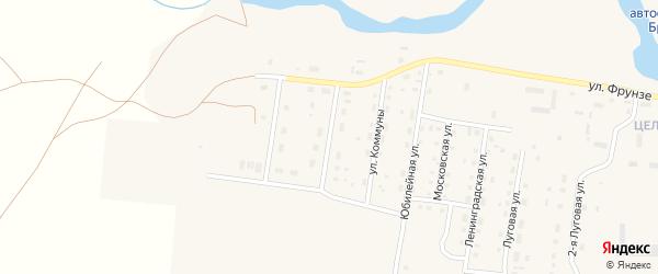 Промкомбинатовская улица на карте поселка Бредов с номерами домов