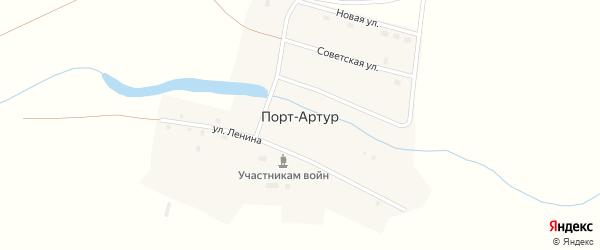 Комсомольская улица на карте поселка Порта-Артура с номерами домов
