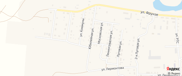 Юбилейная улица на карте поселка Бредов с номерами домов