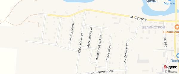 Московская улица на карте поселка Бредов с номерами домов