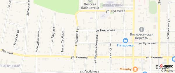 Лесная улица на карте поселка Бредов с номерами домов