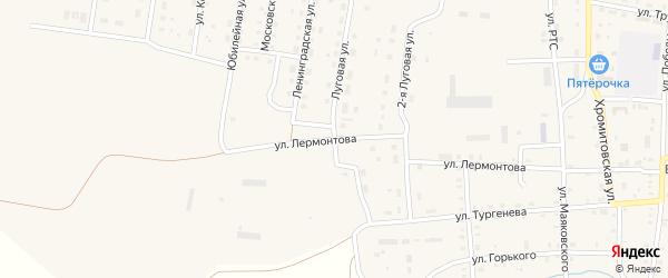 Ленинградская улица на карте поселка Бредов с номерами домов