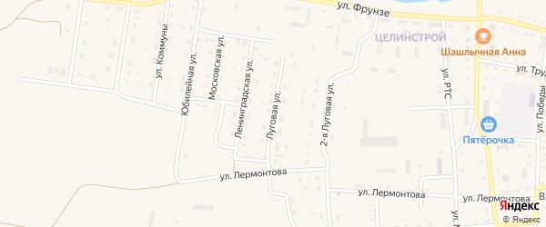 Луговая улица на карте поселка Бредов с номерами домов