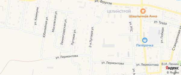 2-я Луговая улица на карте поселка Бредов с номерами домов