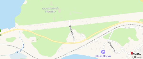 Еловская улица на карте Чебаркуля с номерами домов