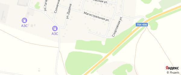 Карьерная улица на карте деревни Борового с номерами домов