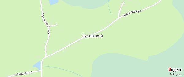Чусовской переулок на карте Чусовского поселка с номерами домов