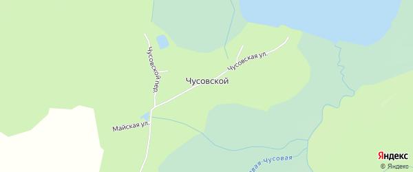 Карта Чусовского поселка города Верхнего Уфалея в Челябинской области с улицами и номерами домов