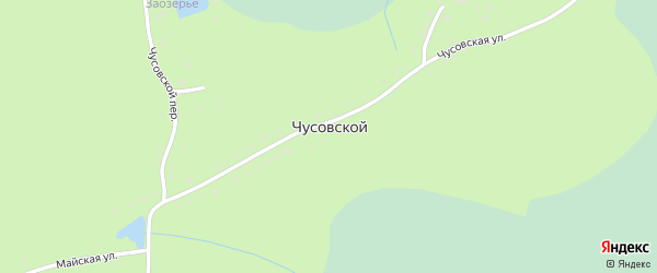 Майская улица на карте Чусовского поселка с номерами домов