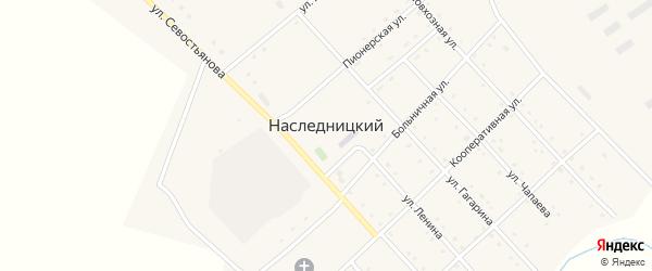 Больничная улица на карте Наследницкого поселка с номерами домов