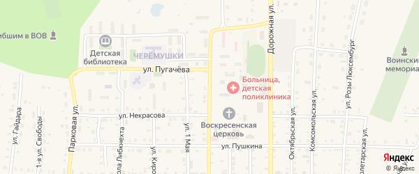 Милицейская улица на карте поселка Бредов с номерами домов