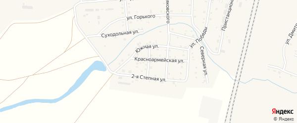 Целинная улица на карте поселка Бредов с номерами домов