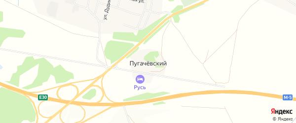 Карта Пугачевского поселка в Челябинской области с улицами и номерами домов