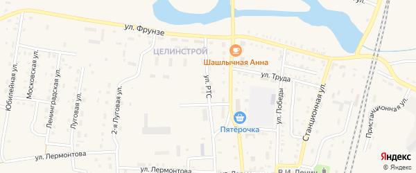 Улица РТС на карте поселка Бредов с номерами домов