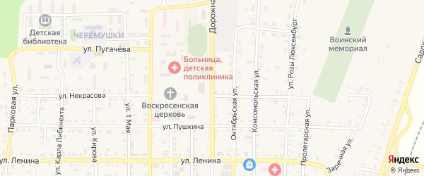 Дорожная улица на карте поселка Бредов с номерами домов