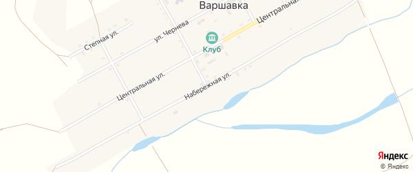 Набережная улица на карте поселка Варшавки с номерами домов