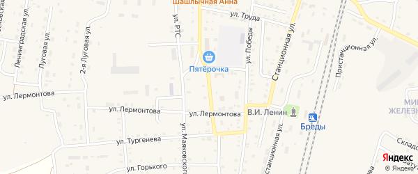 Хромитовская улица на карте поселка Бредов с номерами домов