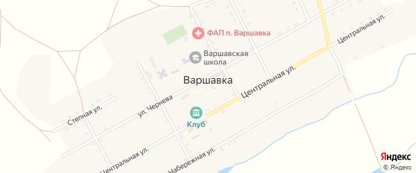 Некрасовский переулок на карте поселка Варшавки с номерами домов