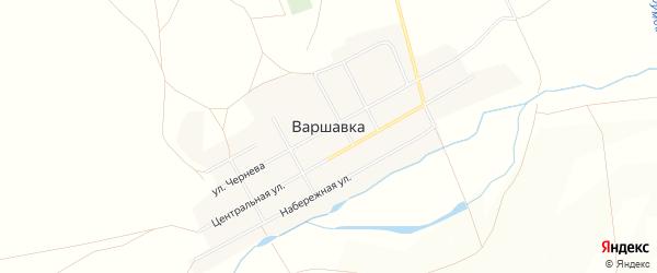 Карта поселка Варшавки в Челябинской области с улицами и номерами домов