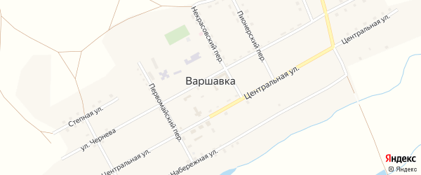 Шоссейный переулок на карте поселка Варшавки с номерами домов