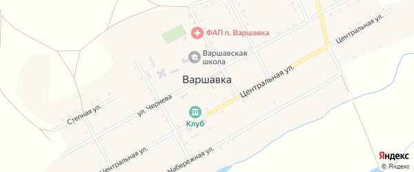 Степная улица на карте поселка Варшавки с номерами домов