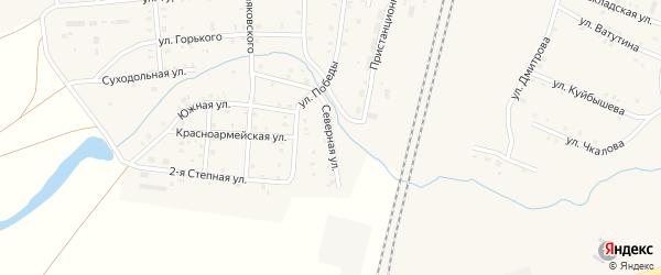 Северная улица на карте поселка Бредов с номерами домов