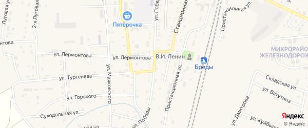 Улица Победы на карте поселка Бредов с номерами домов