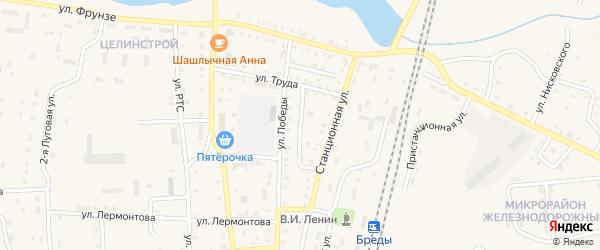 Улица Черняховского на карте поселка Бредов с номерами домов